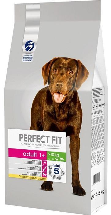 Корм Perfect Fit сухой для собак Adult для средних и крупных пород с курицей 14,5кг