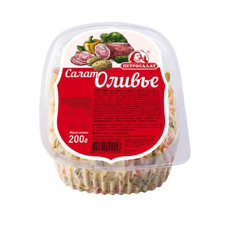 Салат Петросалат Оливье с колбасой