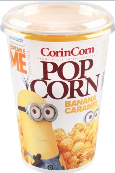 Попкорн CorinCorn Banana Caramel Миньоны
