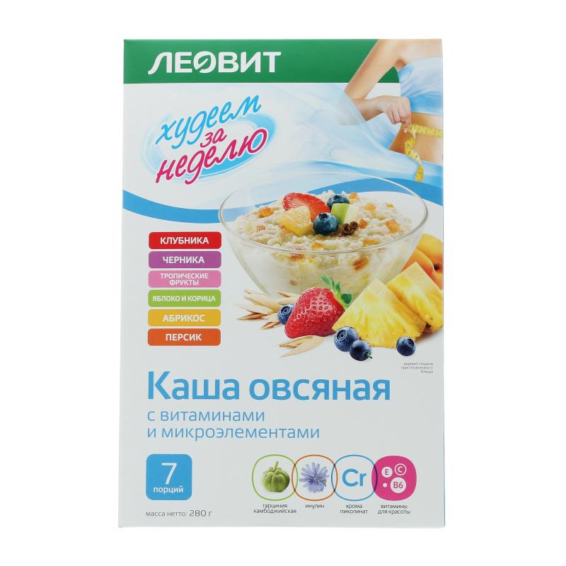 Каша овсяная Леовит к/у 7х40г