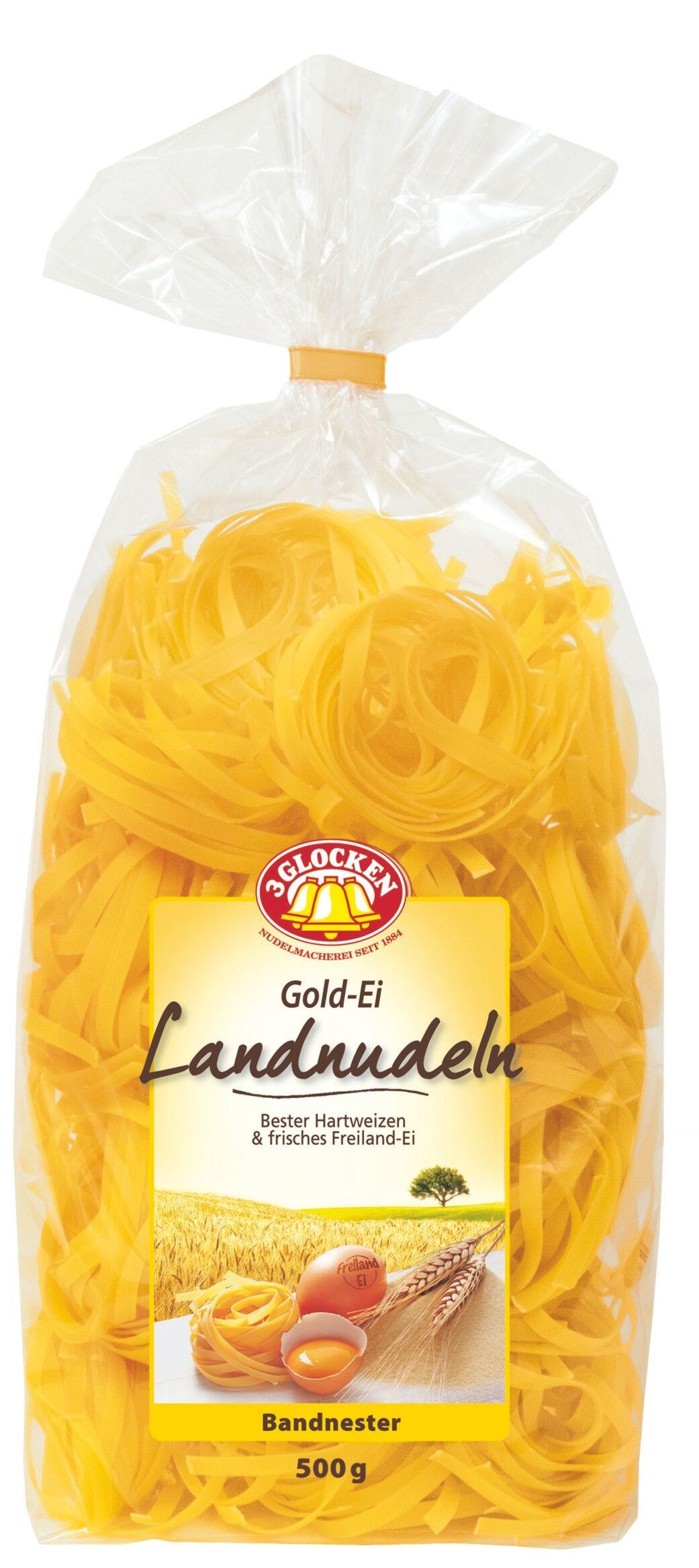 Макаронные изделия 3 Glocken Gold-ei Landnudelen Bandnester