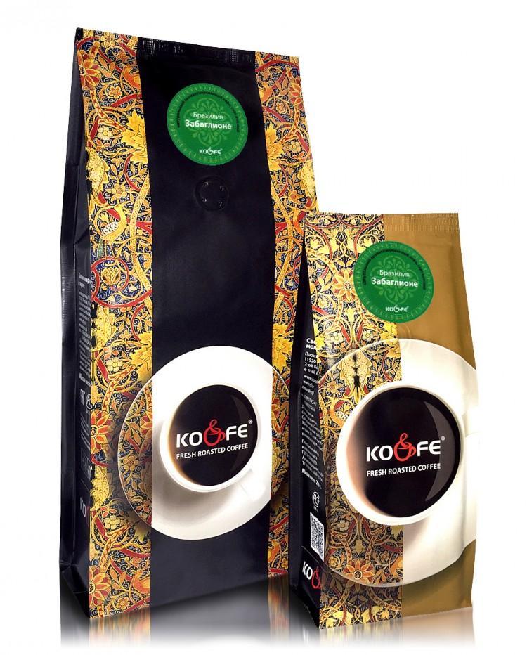 Кофе Ко энд Фе  жареный в зернах ароматизированный Забаглионе