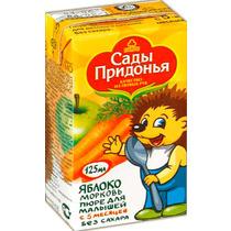 Пюре Сады Придонья Яблоко-Морковь с 5 месяцев