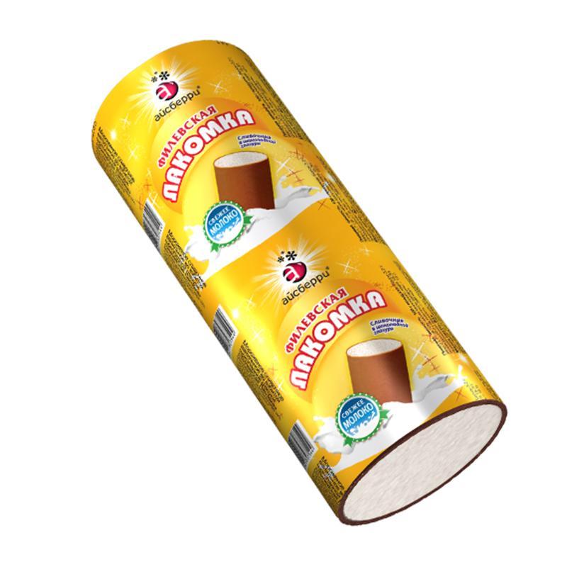 Мороженое Айсберри Лакомка пломбир с взбитой шоколадной глазурью