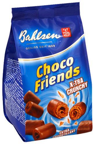 Вафельные трубочки Bahlsen Choco Friends