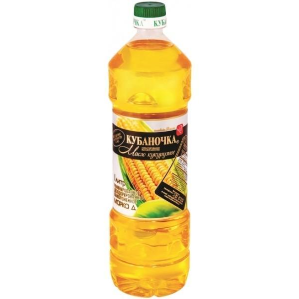 Масло Кубаночка Кукурузное рафинированное высший сорт