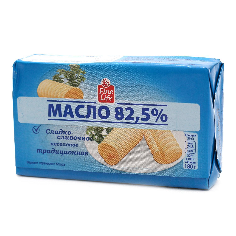Масло Fine life Сливочное Традиционное 82,5%