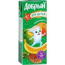 Сок Добрый мультифруктовый 0,2 л с 6 месяцев