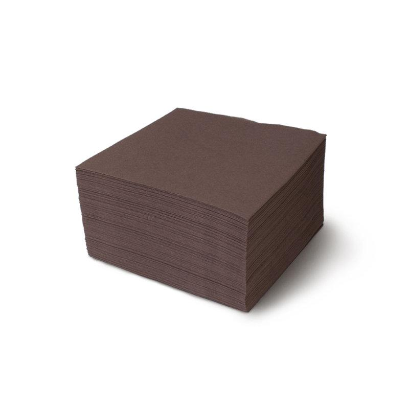 """Салфетки """"Папирус"""" коричневые, 2-слойные, 330*330 мм"""