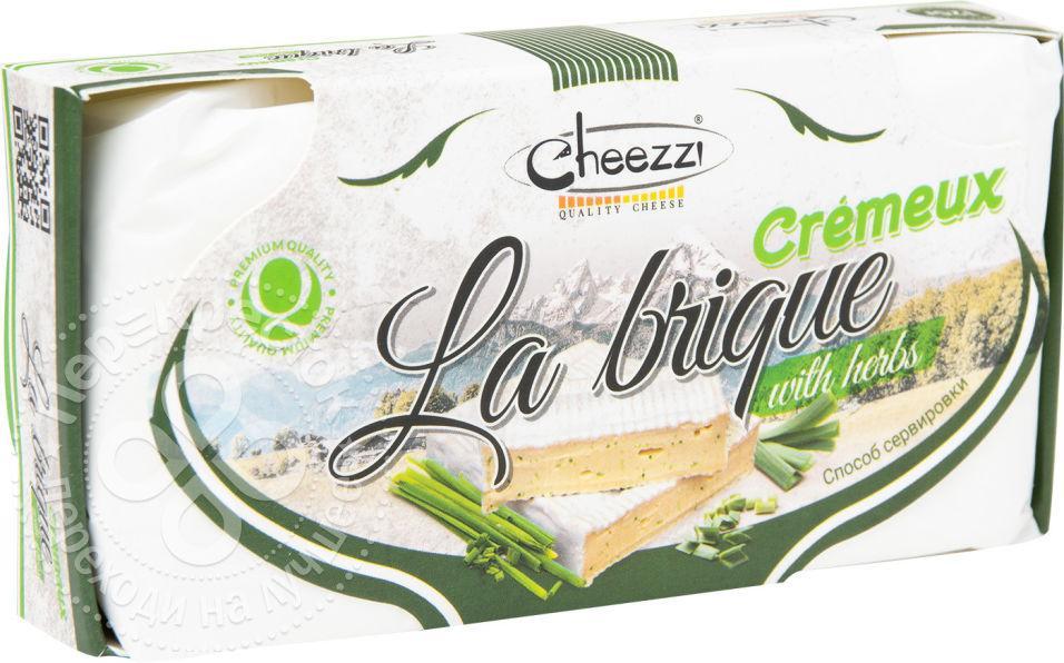 Сыр Cheezzi Ля Брик Cremeux с зеленью и белой плесенью мягкий 50%