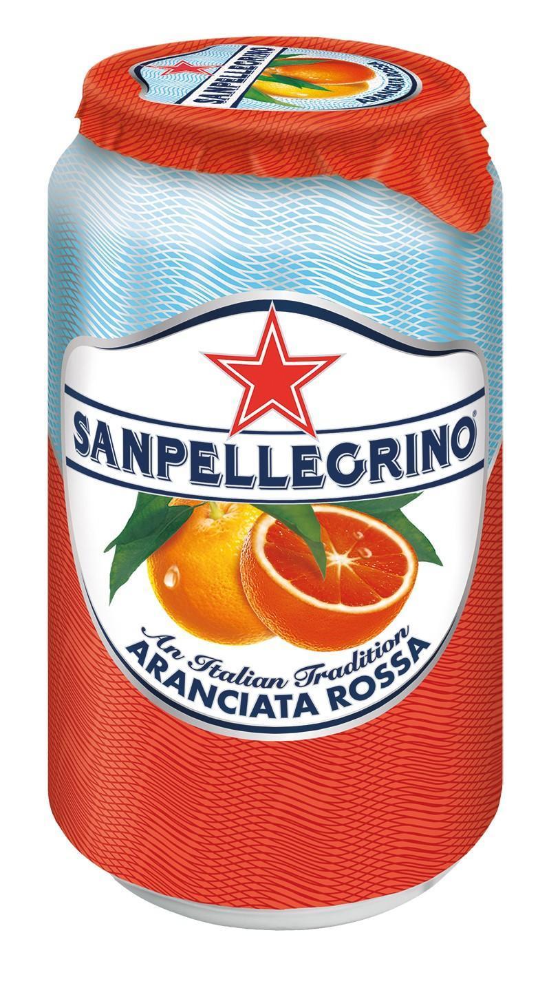 Напиток безалкогольный газированный San Pellegrino Aranciata Rossa Красный апельсин 0,33 л.