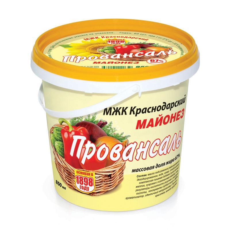 Майонез МЖК Краснодарский Провансаль 67%