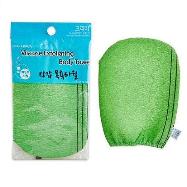 Мочалка-варежка Sungbo Cleamy для душа Viscose Glove Bath Towel