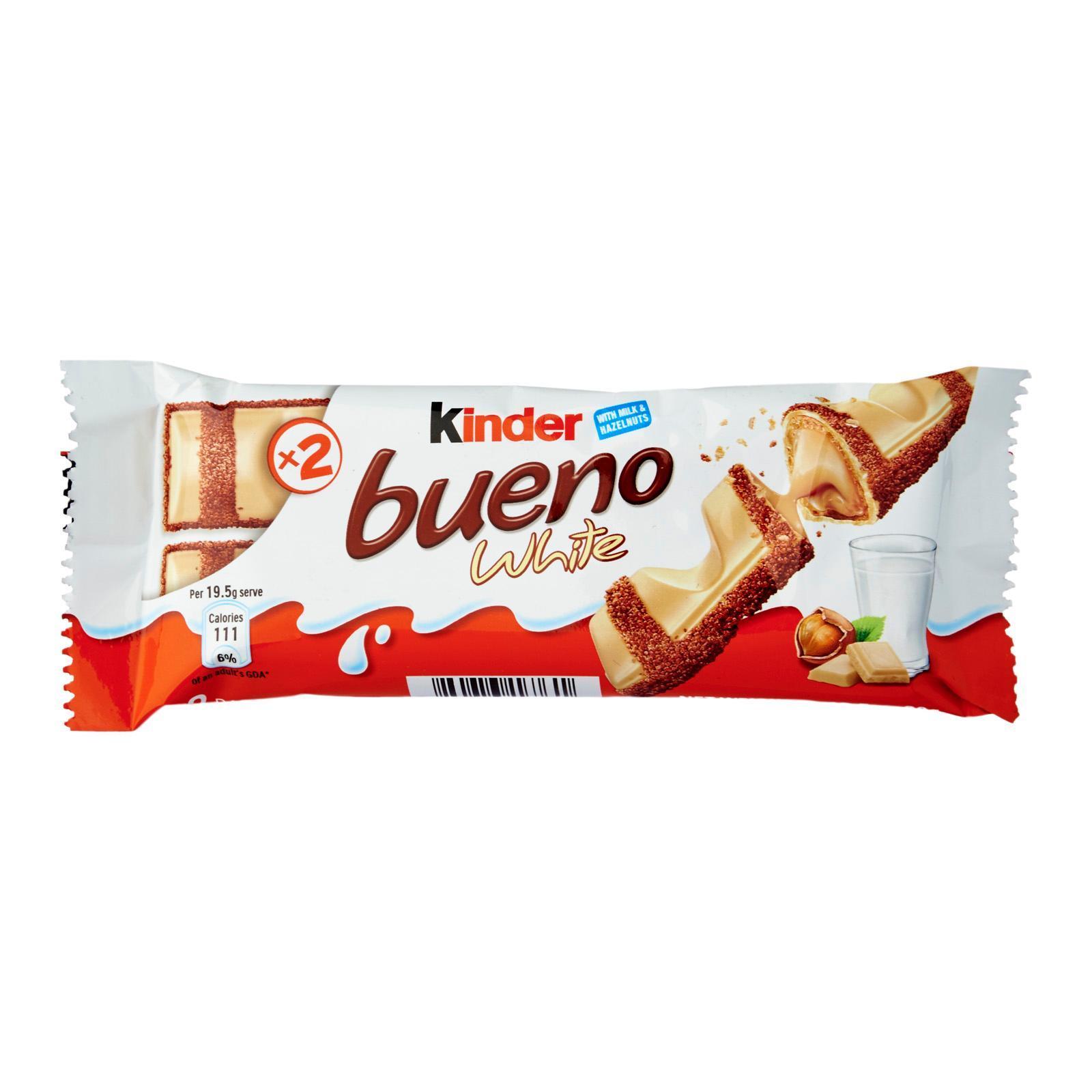 Вафельный батончик Kinder Буэно в белошоколаде