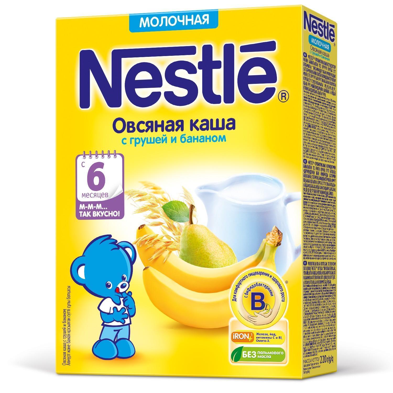 Каша Nestle молочная овсяная с грушей и бананом с 6 месяцев