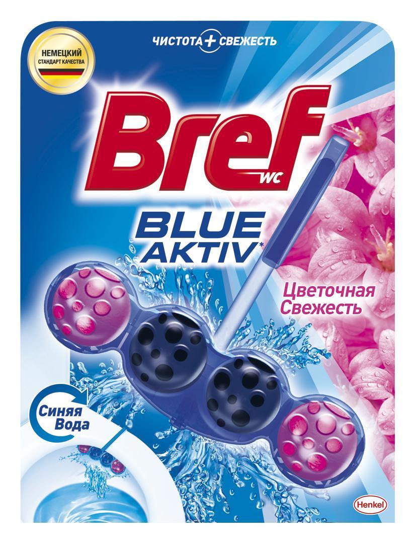 Чистящее средство для унитаза Bref Blue Aktiv Цветочная свежесть