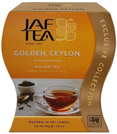 Чай JAF TEA Golden Ceylon черный листовой, сорт ОРА 100 гр.