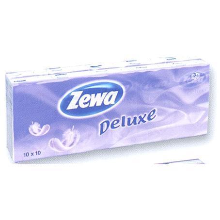 Носовые платки Zewa Deluxe 3-слойные