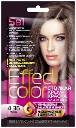 Краска для волос Fito Косметик Effect Color стойкая крем-краска, тон 4.36 мокко