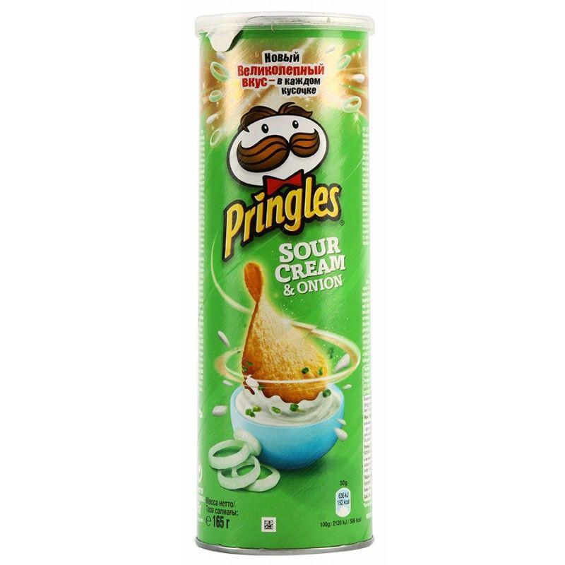 Чипсы картофельные Pringles Сметана и лук