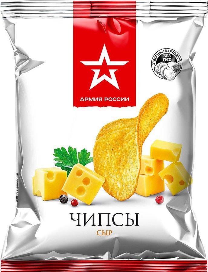 Картофель хрустящий Армия России со вкусом сыра