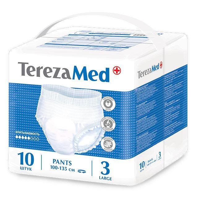 Подгузники-трусики для взрослых Tereza Med Large 100-135см 10шт
