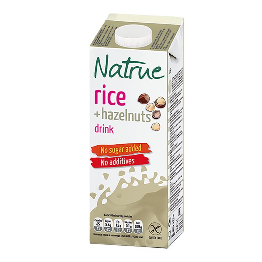 Напиток Natrue рисовый с лесным орехом 1,5%
