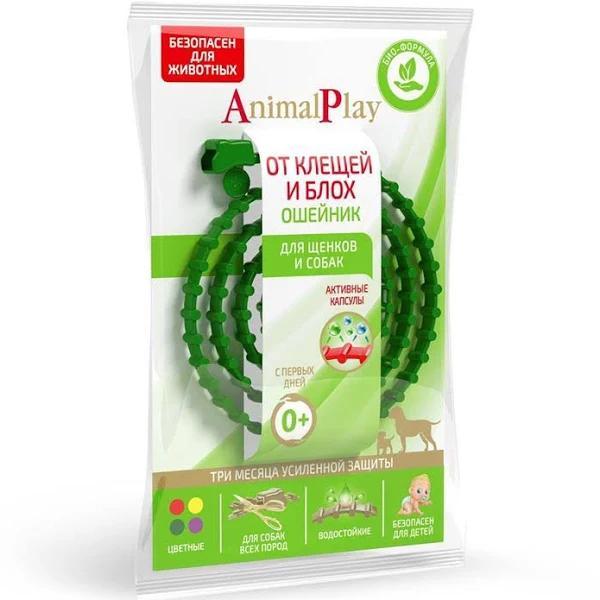 Ошейник репеллентный для собак Animal Play зеленый 75 мм.