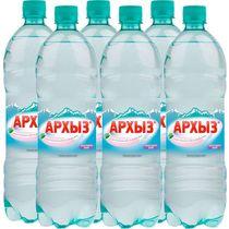 Вода минеральная Архыз питьевая столовая газированная 1,5 л.