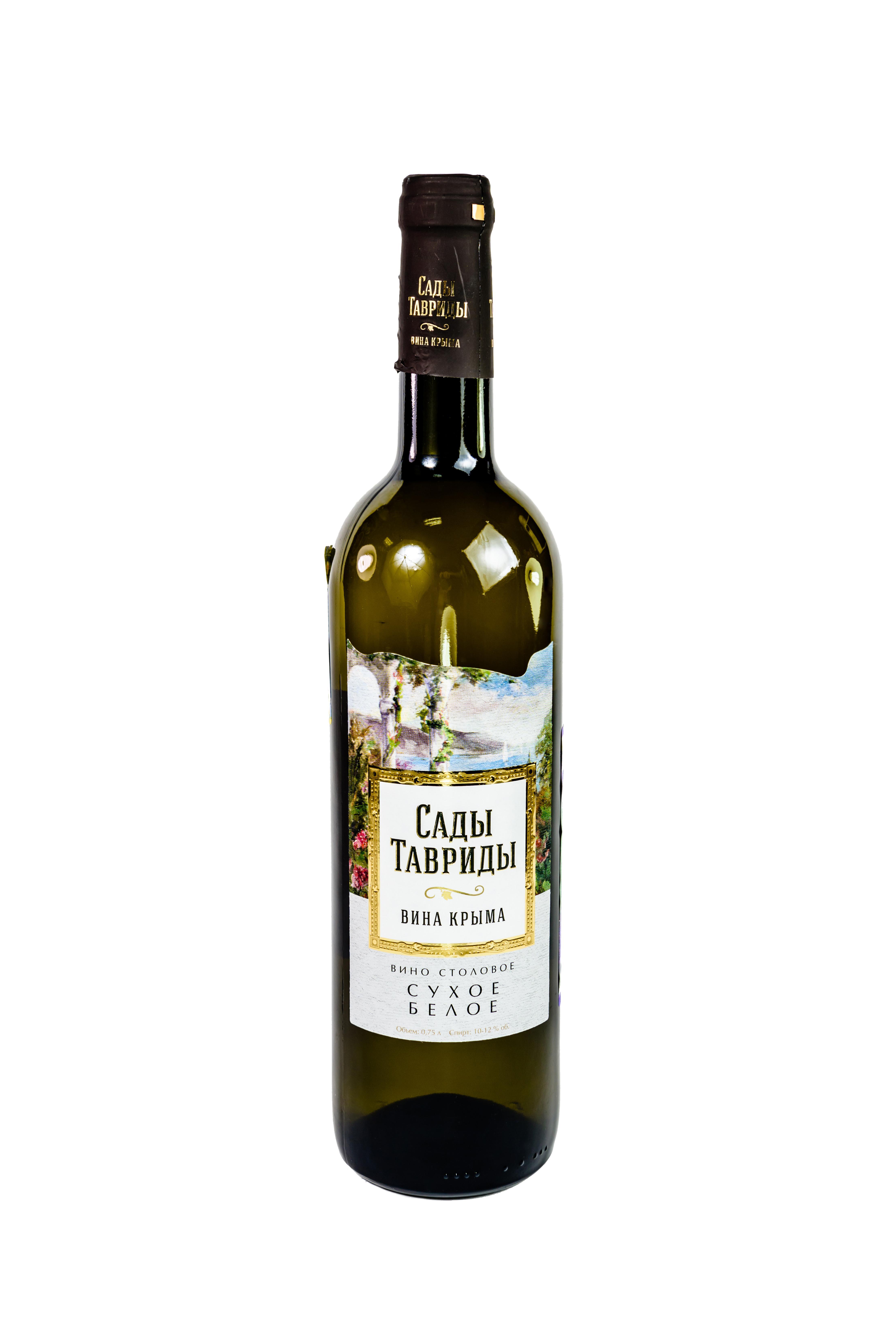 Вино Сады Тавриды столовое белое сухое 11%