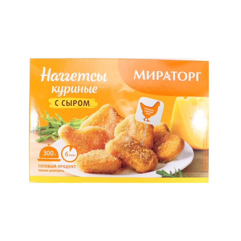 Наггетсы Мираторг куриные с сыром замороженные