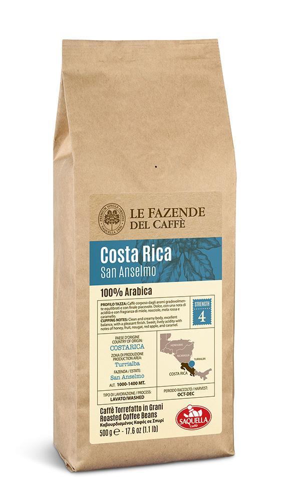 Кофе Saquella Single Origin Arabica Costa-Rica в зернах