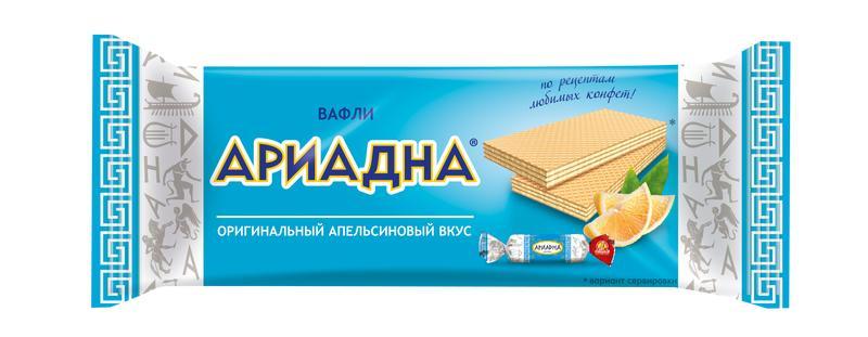 Вафли Славянка Ариадна с апельсиновым вкусом