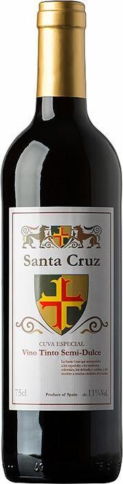 Вино Санта Круз / Santa Cruz Red Semi-sweet,  Темпранийо,  Красное Полусладкое, Испания