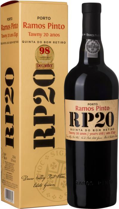 Портвейн Порто 20 лет Кинта до Бом Ретиро в подарочной коробке / Porto 20 Years Quinta do Bom Retiro in Gift Box, 20 лет Красное Сладкое, Португалия