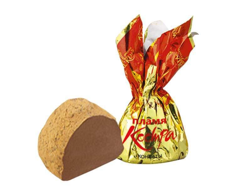 Конфеты Фабрика имени Крупской Пламя костра шоколадные