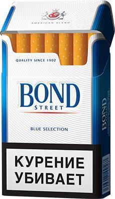 Сигареты Bond Street с фильтром Blue Selection