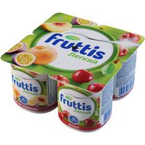 Продукт йогуртный пастер Fruttis Легкий 0,1% Персик-Маракуя/Вишня  4*110г