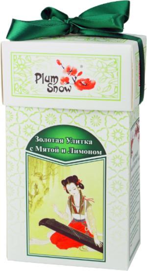 Чай Plum Snow Золотая Улитка с мятой и лимоном 100 гр