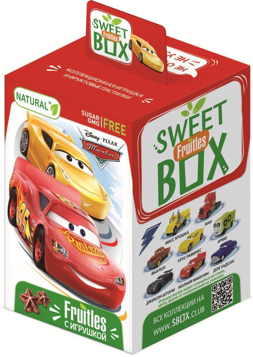 Пластинки Sweet box Disney Тачки Fruitles фруктовые с игрушкой