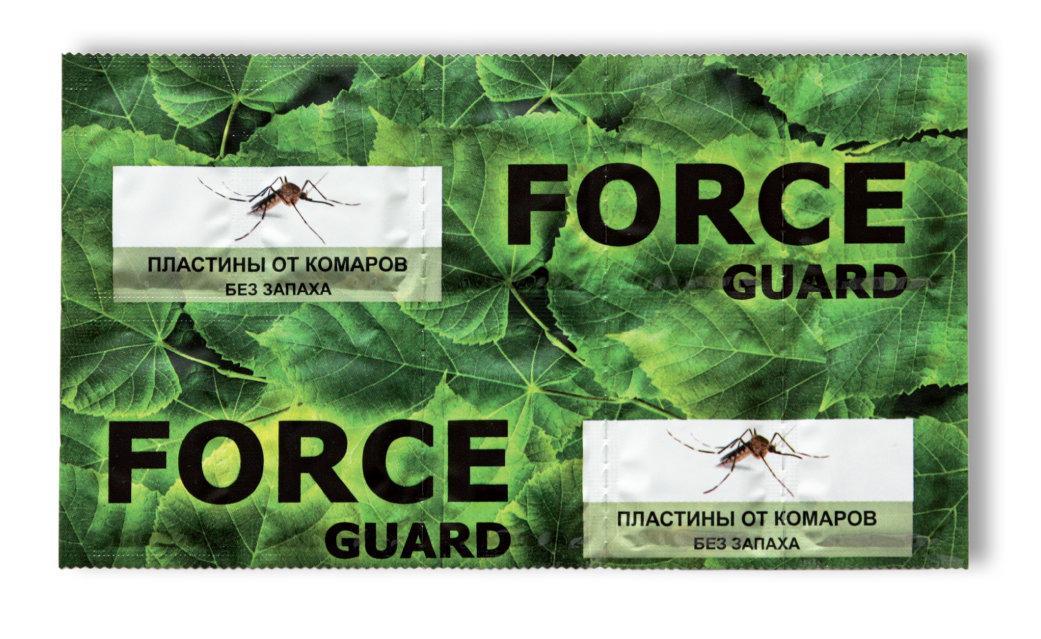 Пластина от комаров Force guard Для электрофумигатора Без запаха 10шт.