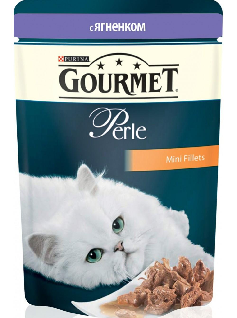 Корм для кошек Gourmet Perle мини-филе с ягненком