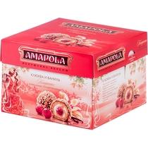 Конфеты Amapola Клюква и Ваниль вафельные глазированные 100 гр