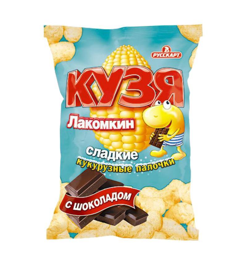 Кукурузные палочки Кузя Лакомкин с шоколадом