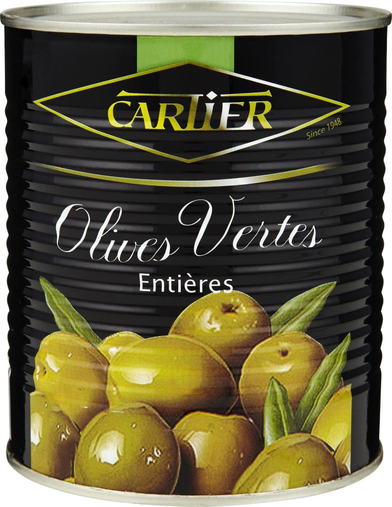Оливки Cartier Зеленые с косточкой