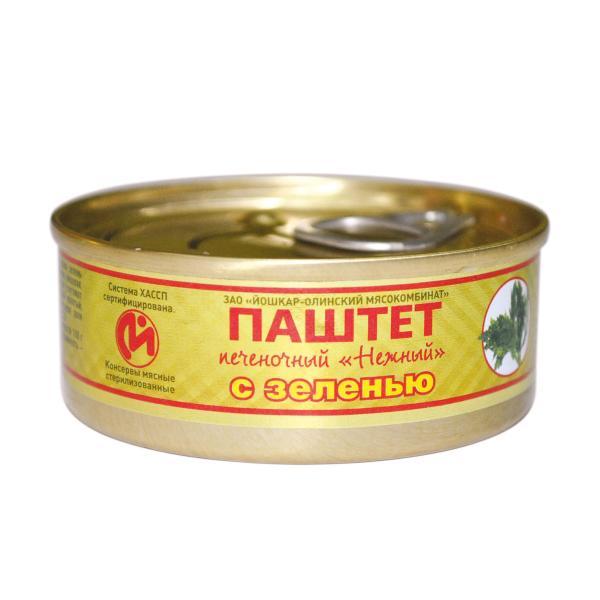 Паштет Йошкар-Олинский МК Нежный Печеночный с зеленью