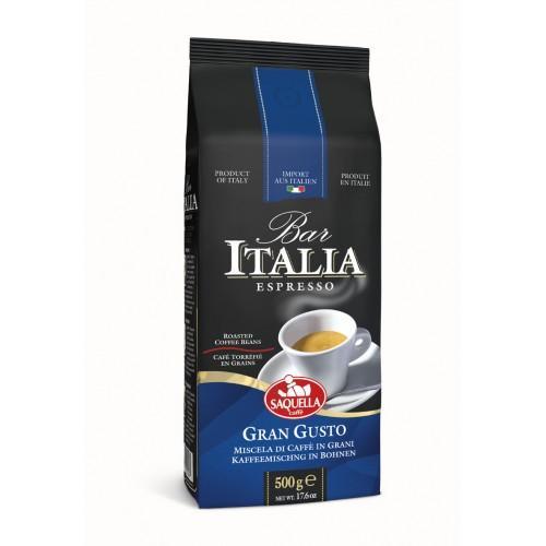 Кофе Saquella Bar Italia в зернах Gran Gusto