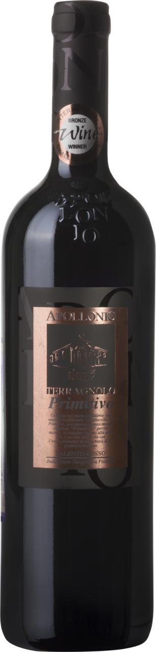 Вино Терраньоло Примитиво / Terragnolo Primitivo,  Примитиво,  Красное Сухое, Италия