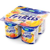 Продукт йогуртный Fruttis Сливочное лакомство 5% Дыня-манго / Банан-клубника