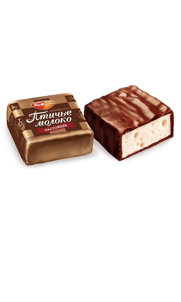 Весовые конфеты Рот Фронт Птичье молоко Сливочно-Ванильные